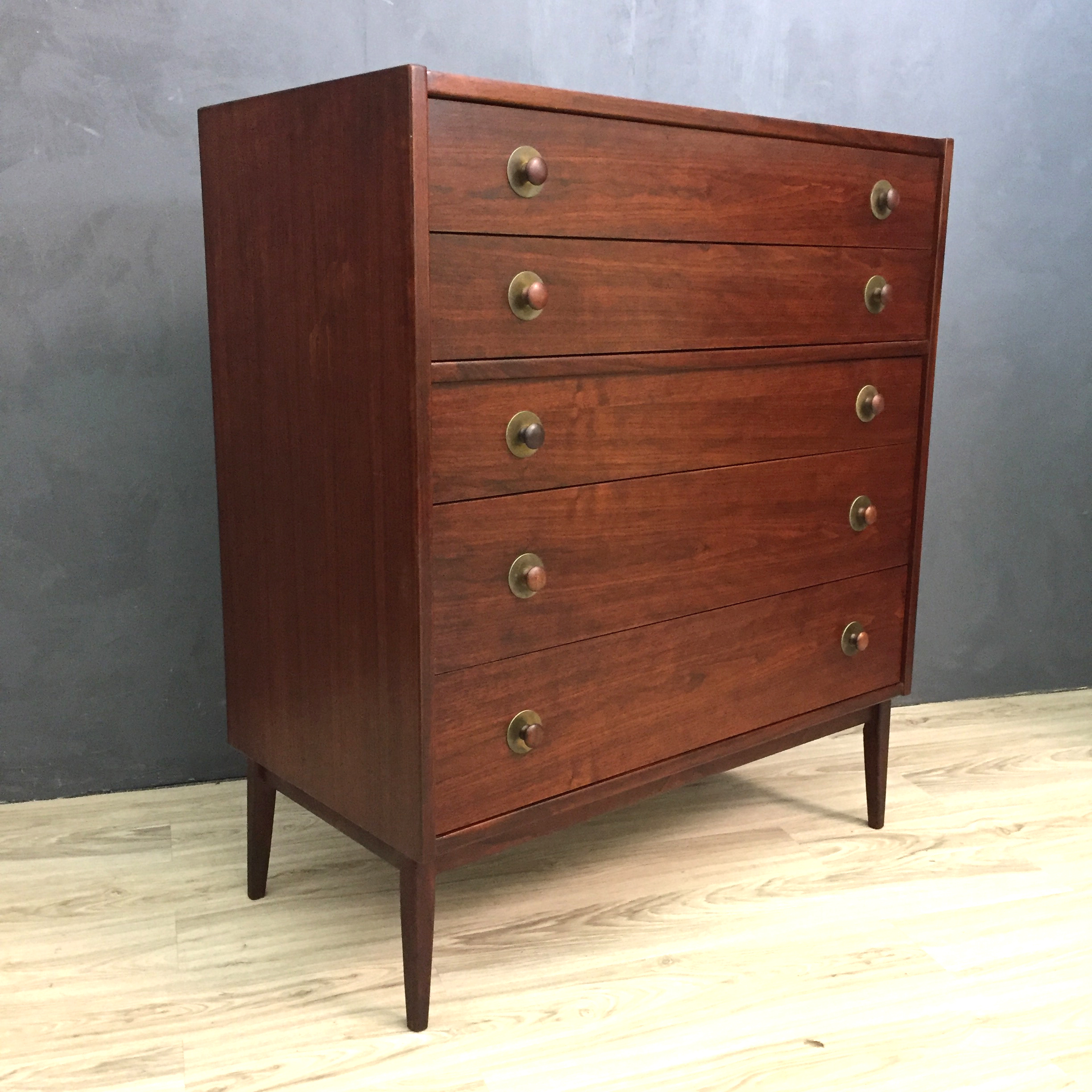 Founders Walnut Highboy Bureau