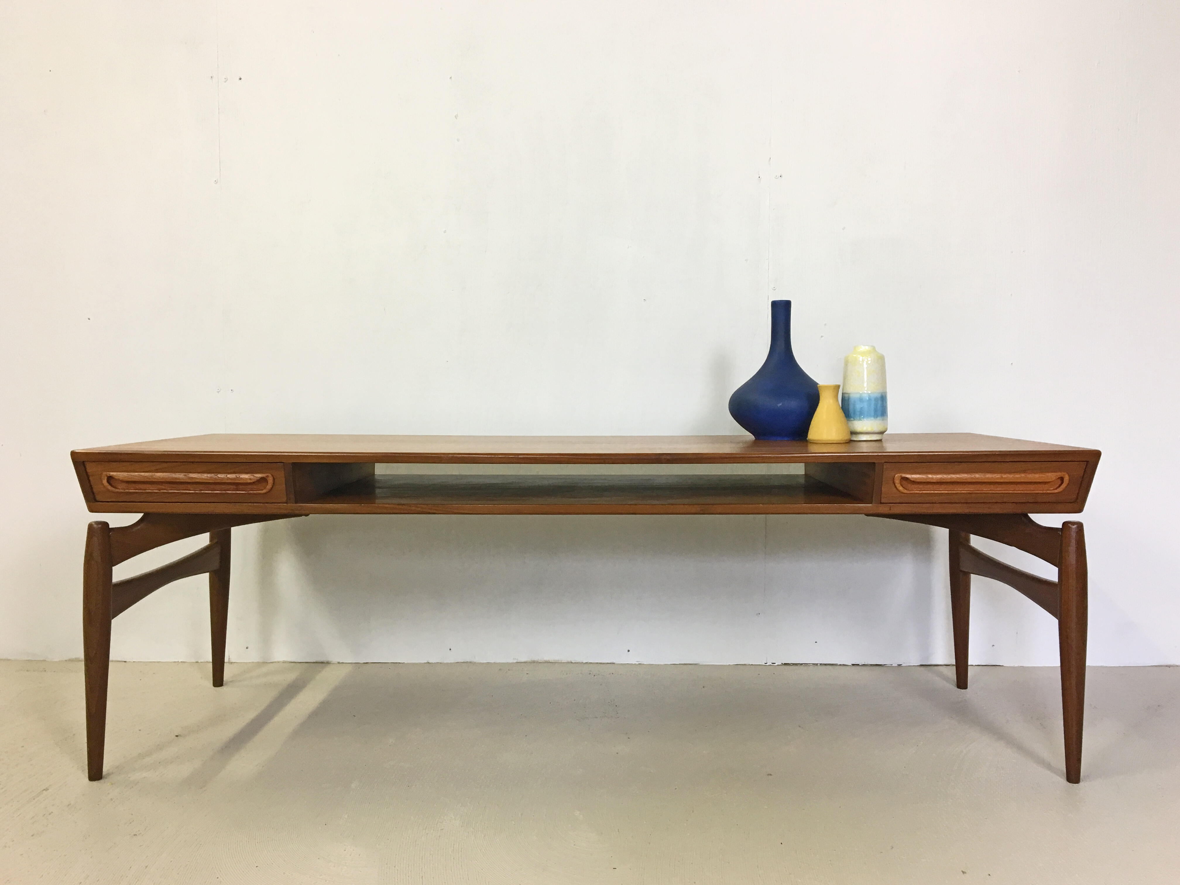 Danish Modern Teak Coffee Table by Johannes Andersen