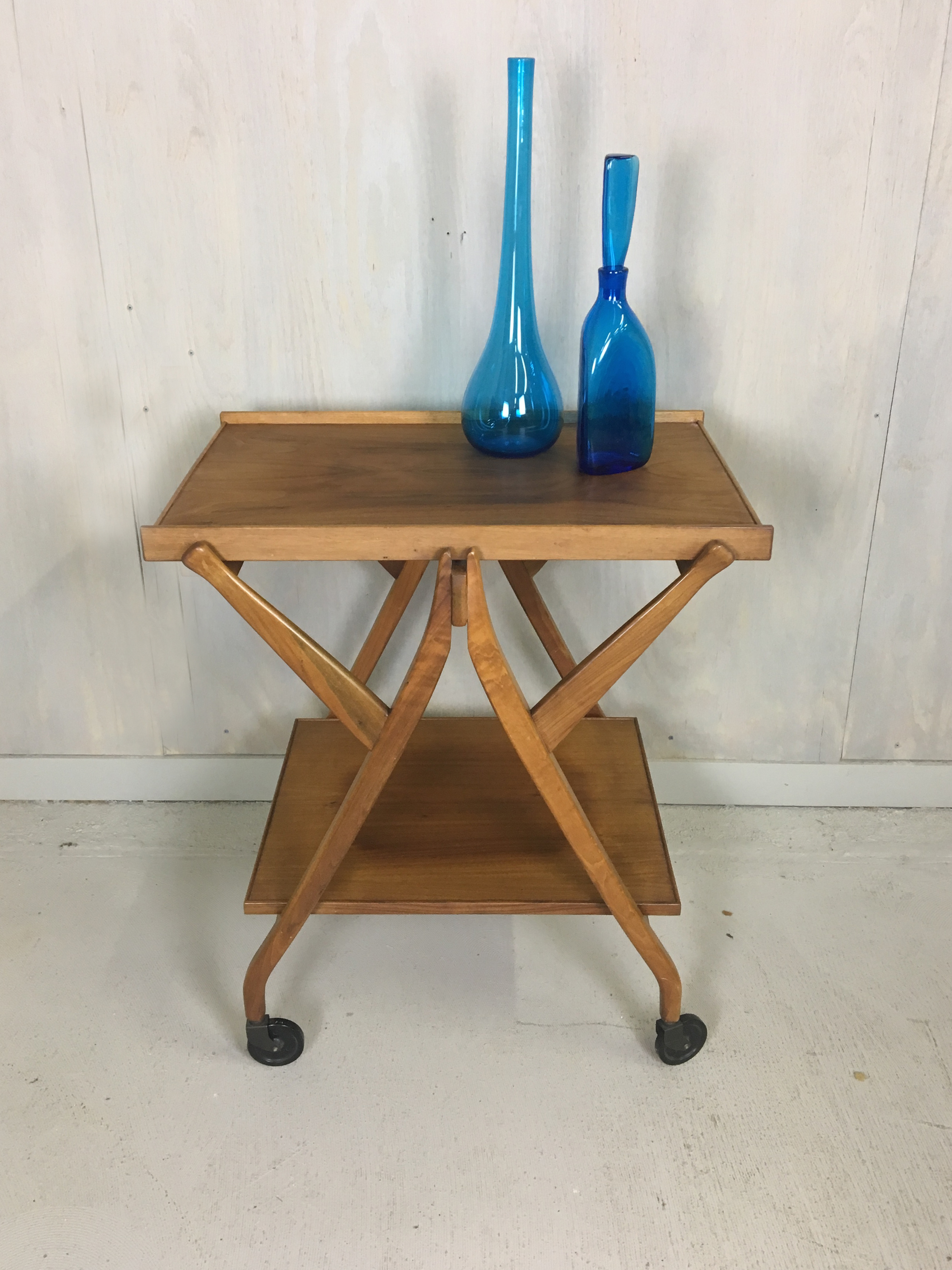 Walnut Serving Table/Cart by Kipp Stewart for Drexel
