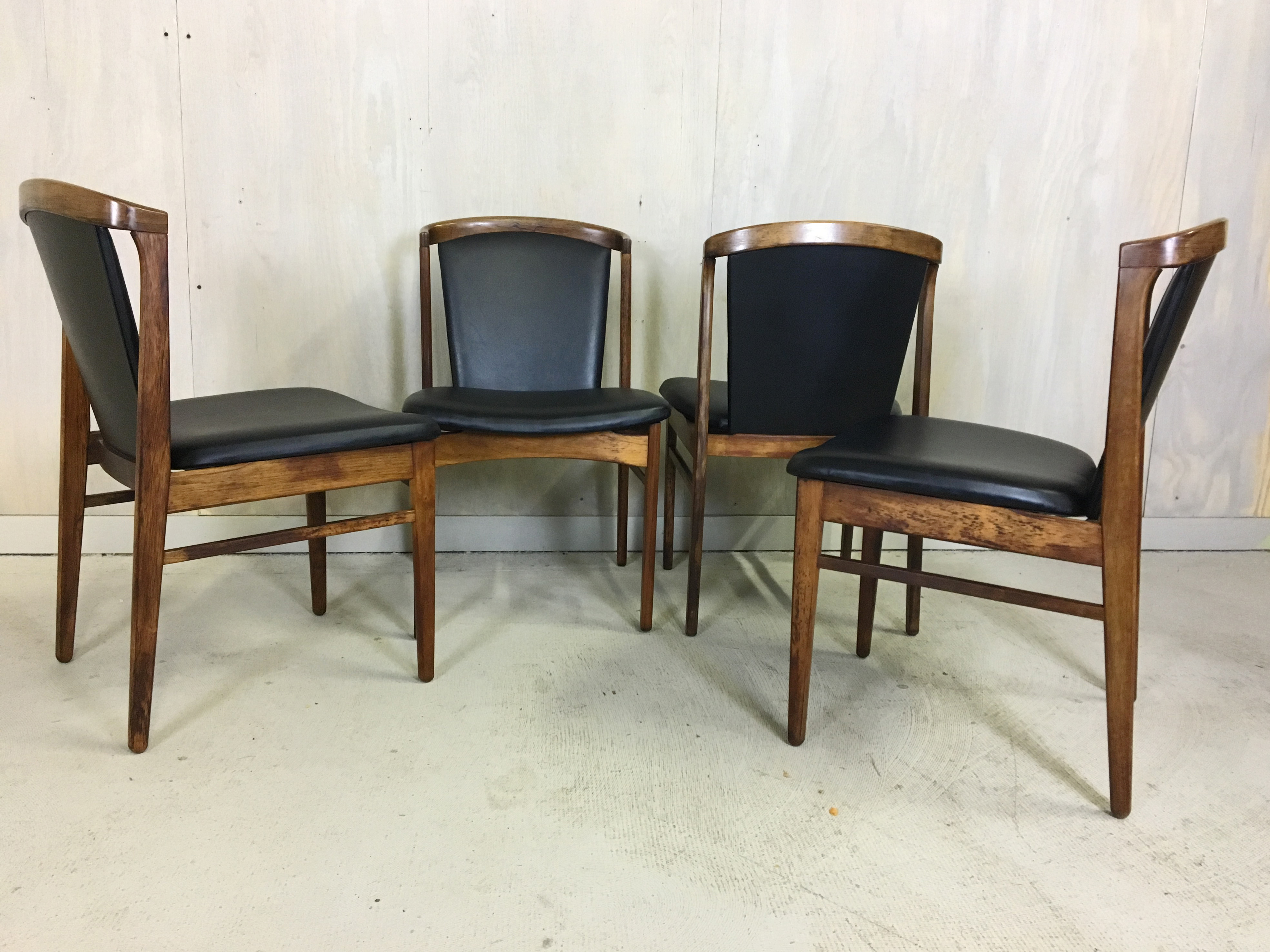 Set of 4 Erik Buch Rosewood Dining Chairs