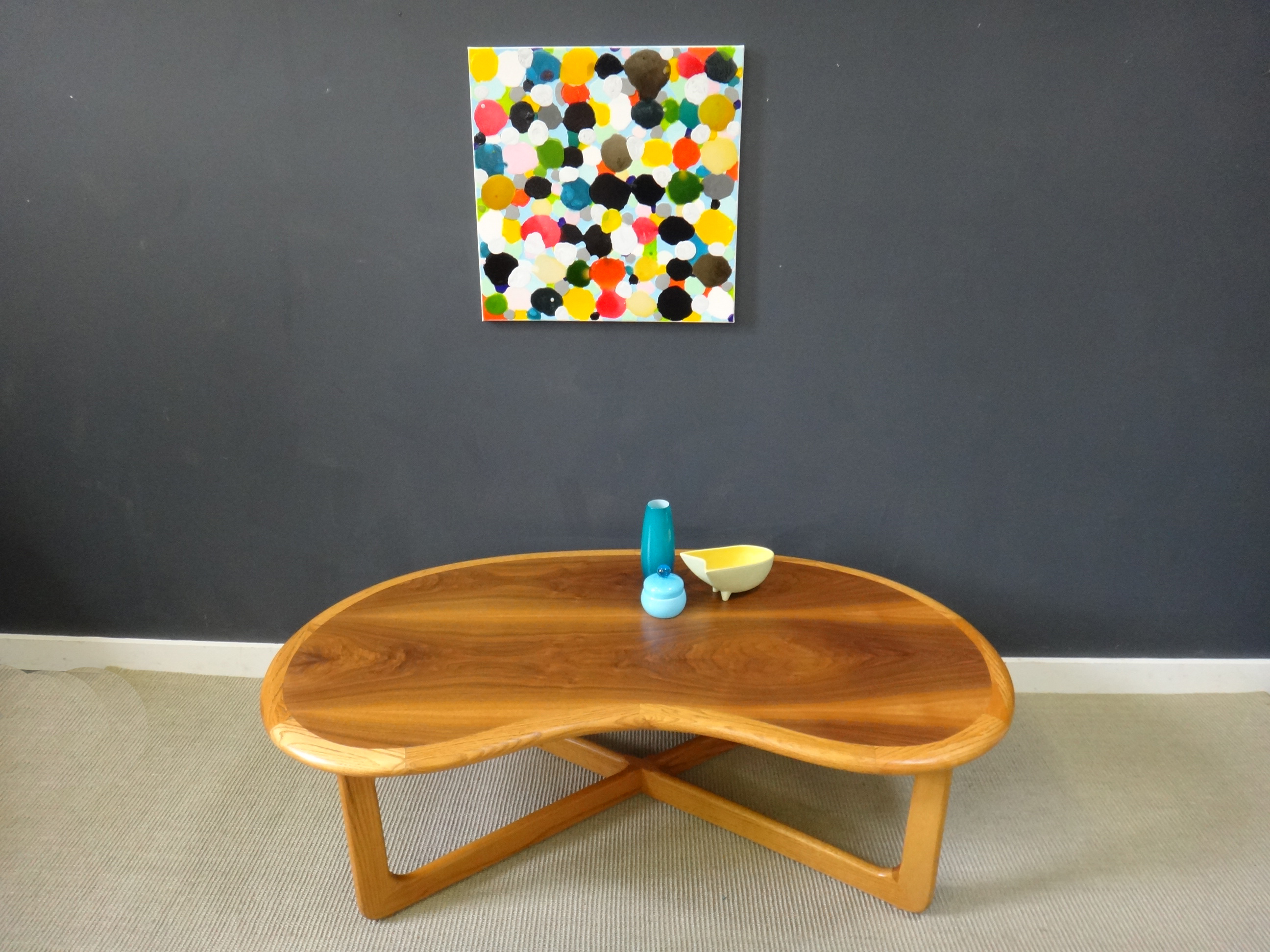 On Sale - Mid Century Lane Kidney-Shaped Coffee Table