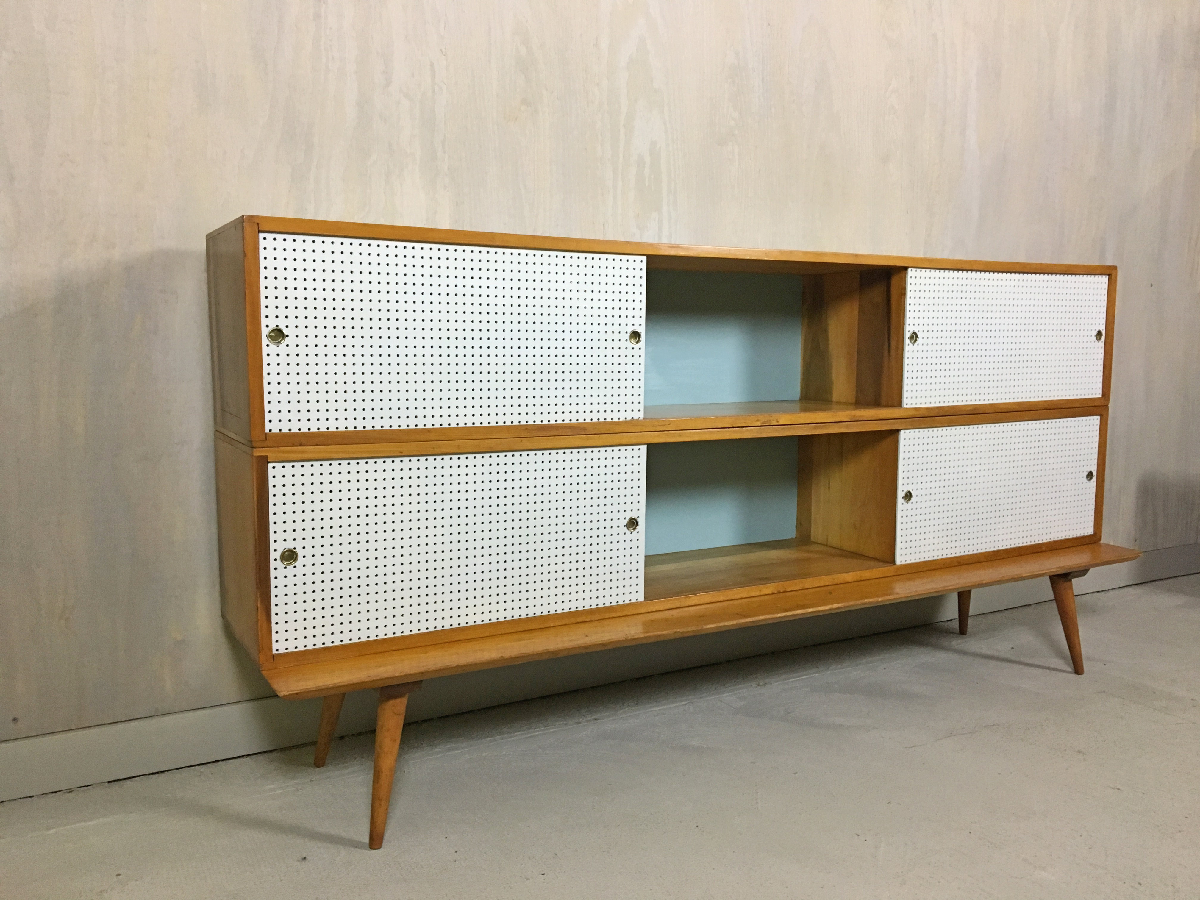 Paul McCobb Style Modular Cabinets with Base