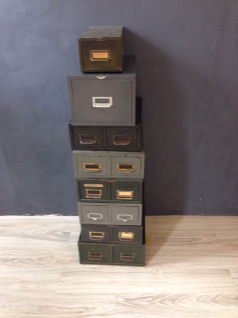 Vintage  Metal File Boxes