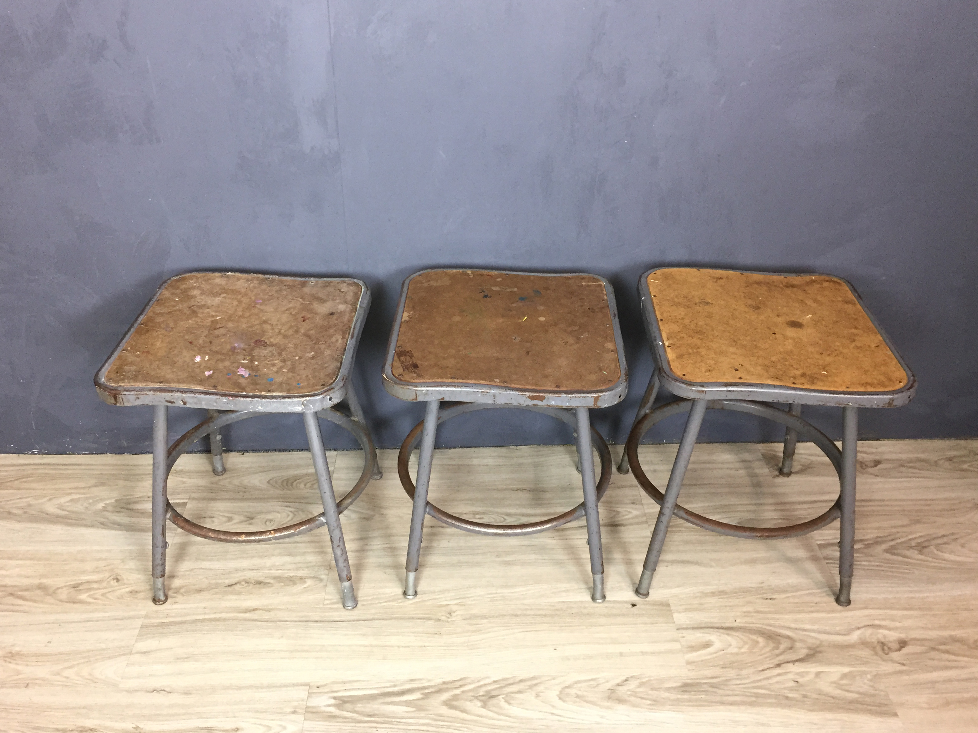 Industrial Metal Stools