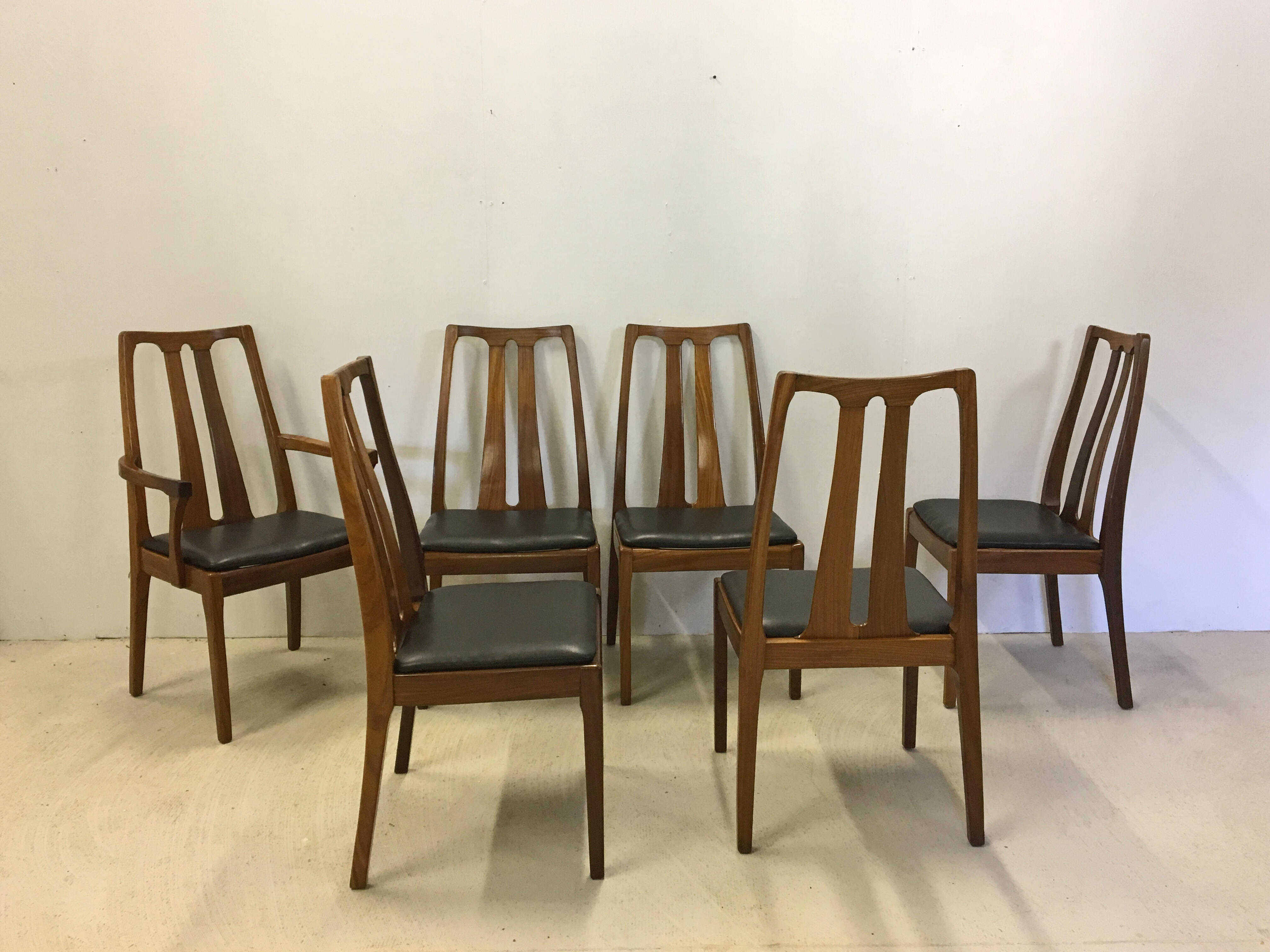 Danish Modern Teak Dining Chairs by Nathan of Britain