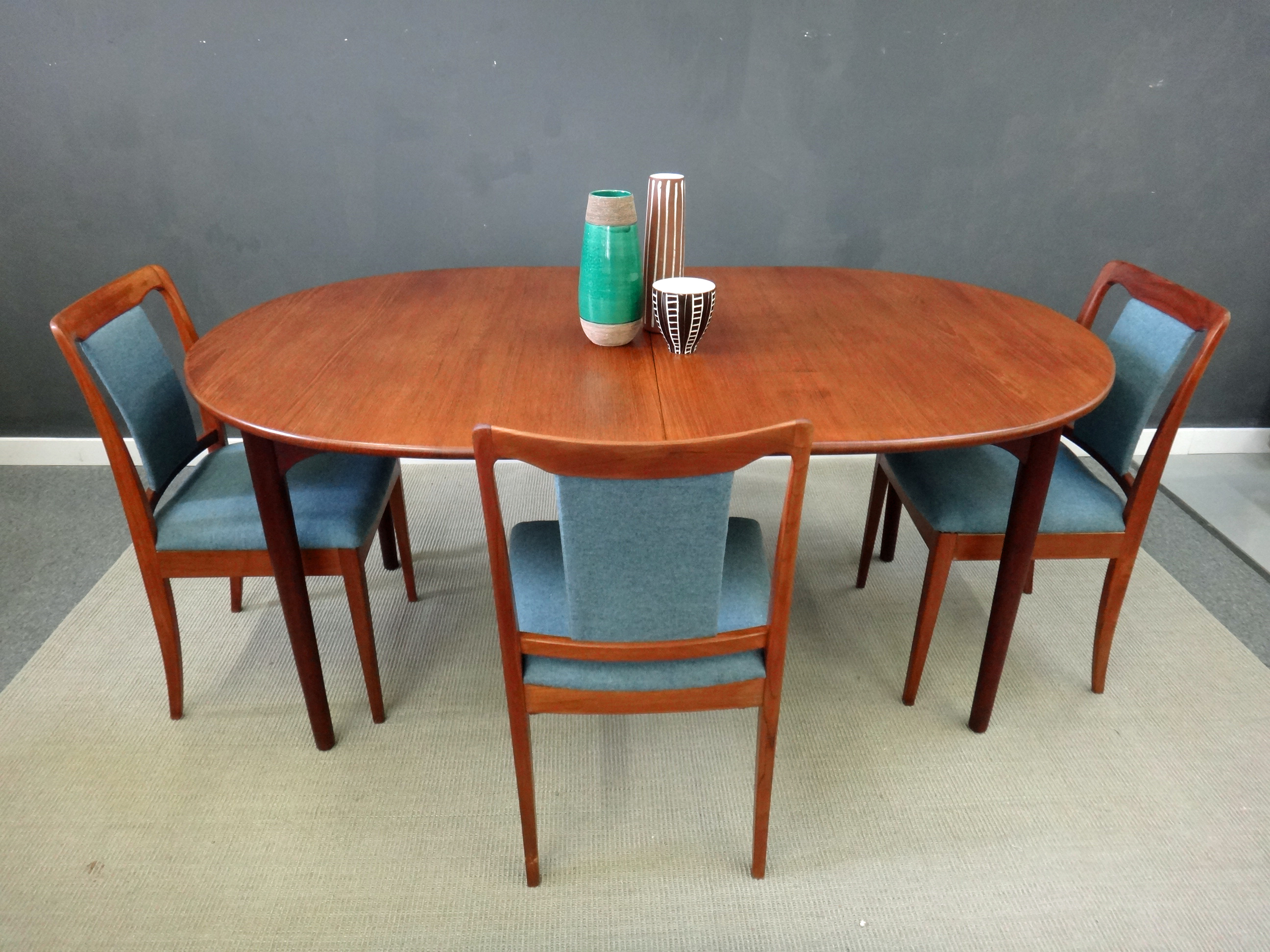 Mid Century Danish Modern Teak Dining Table