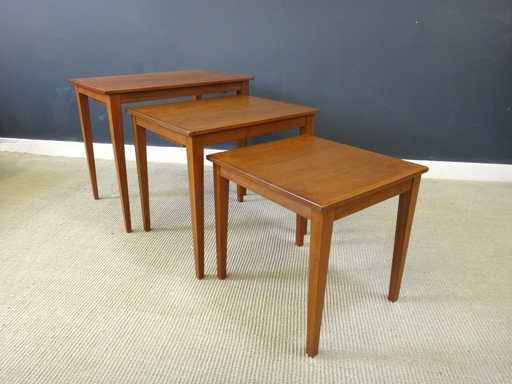 Danish Modern Teak Nesting Tables by Kavlitet Form Funktion 42