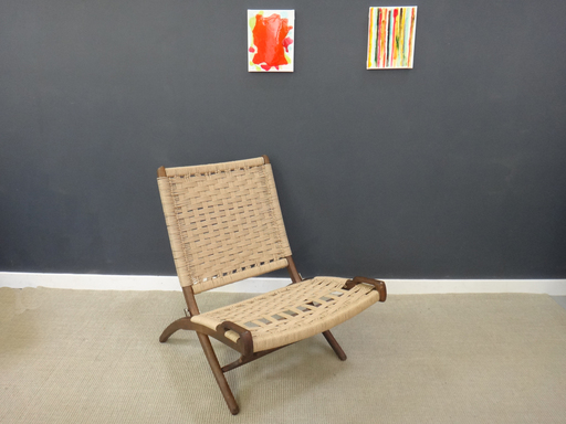 Wegner Mid Century Danish Cord Chair