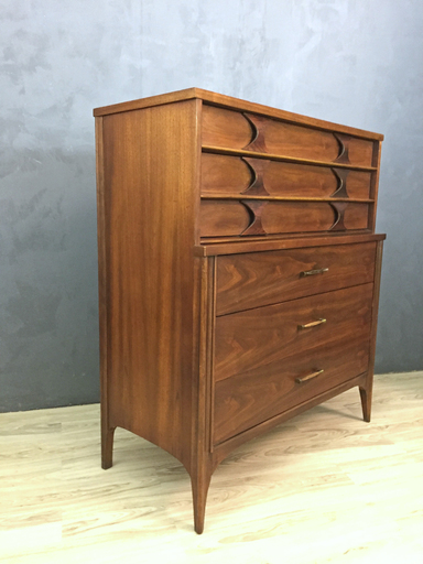 Kent Coffey Mid Century Highboy Bureau nbspBoston