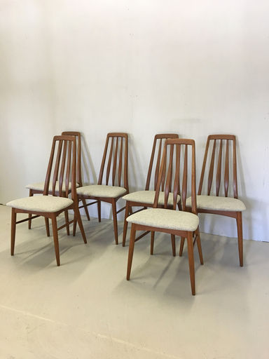 Danish Modern Teak Dining Chairs by Niels Koefoed