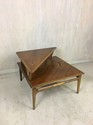 Lane Tiered Accent Table with Rosewood Inlay