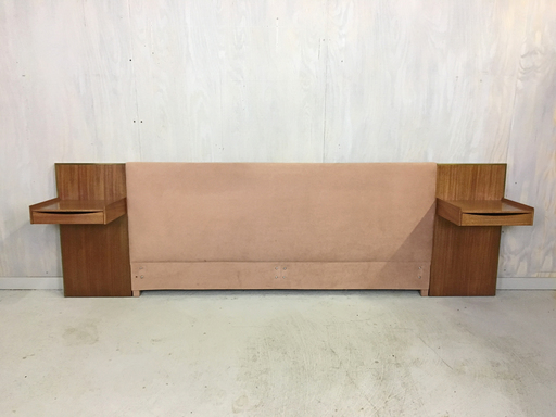 Paul McCobb King Headboard with Floating Nightstands for Calvin Collection