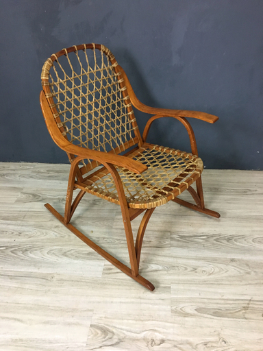 Mid Century Sno Shu Rocking Chair by SnoCraft