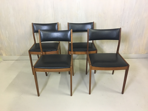 Danish Modern Set of Johannes Andersen Teak Chairs for Uldum Mobelfabrik