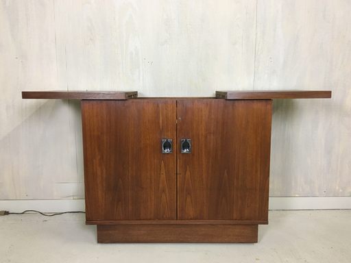 Mid Century Walnut Bar Cabinet