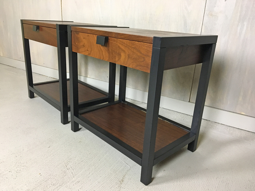 Milo Baughman for Directional End Tables Bedside Tables Nightstands