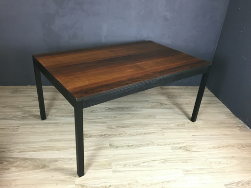 SALE  Milo Baughman Multi Wood Parsons Table