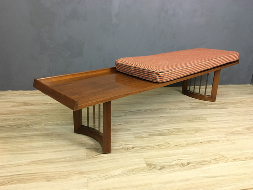 Mid Century Bench with Upholstered Cushion nbspBoston