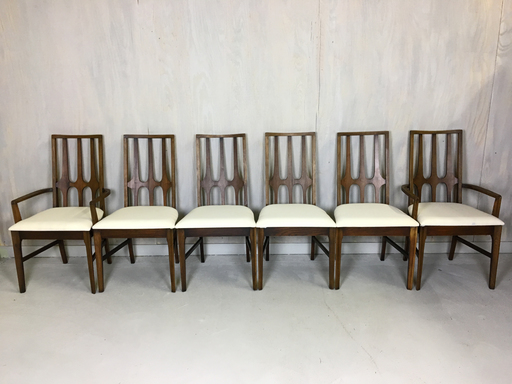 Set of Broyhill Brasilia Walnut Dining Chairs