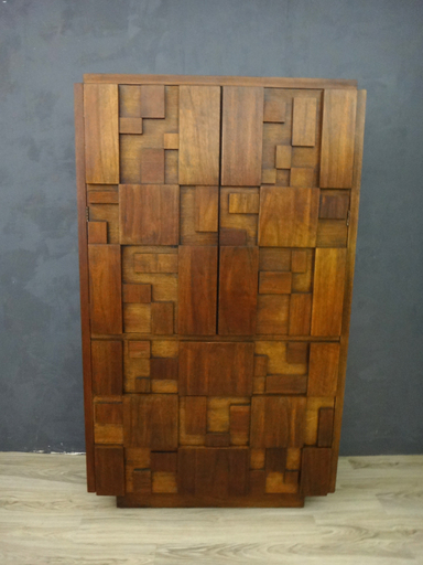 Mid Century Lane Butalist Mosaic Highboy