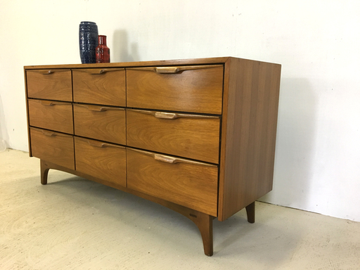 Johnson Carper Walnut Lowboy Dresser Boston