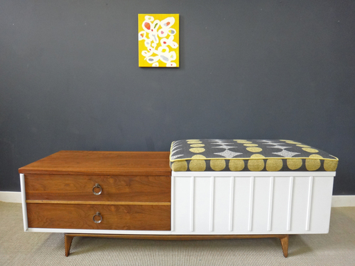 Updated Lane Cedar Chest with Upholstered Bench