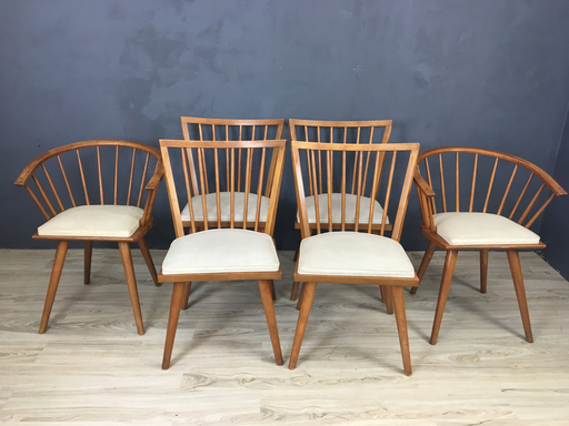 Russell Wright Dining Chairs for Conant Ball