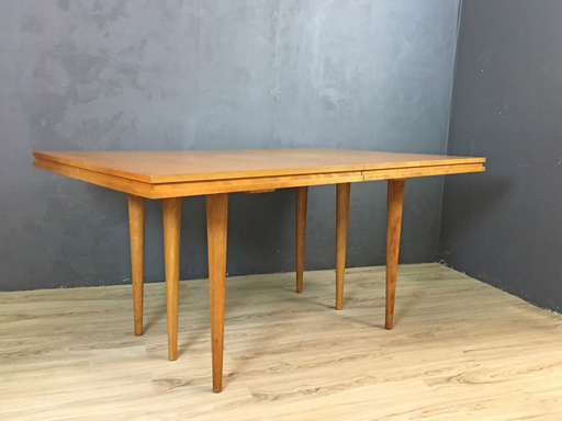Mid Century Russell Wright for Conant Ball Maple Dining Table Boston MA