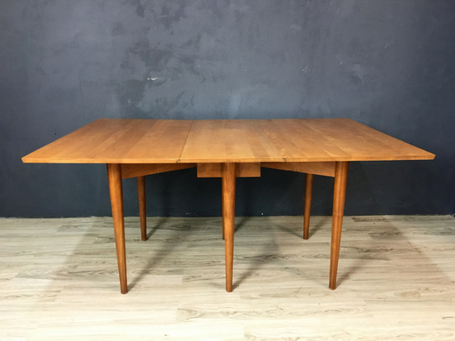 Mid Century Conant Ball Drop Leaf Dining Table
