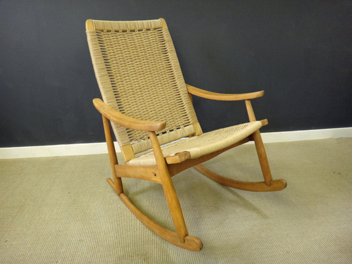 Danish Cord Rocker in Wegner style