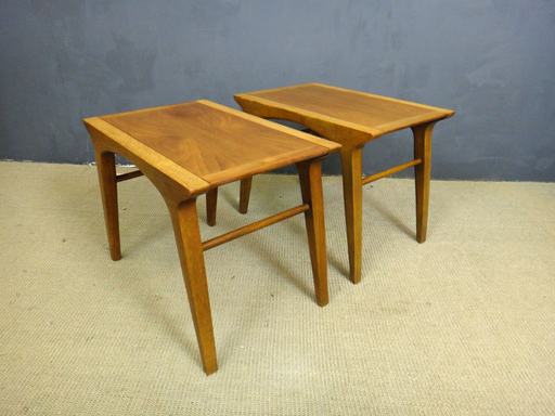 Mid Century Drexel Profile Walnut SIde Tables