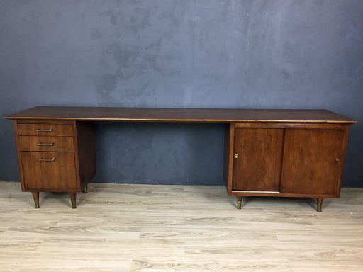 Mid Century Modern Walnut Office Console nbspBoston