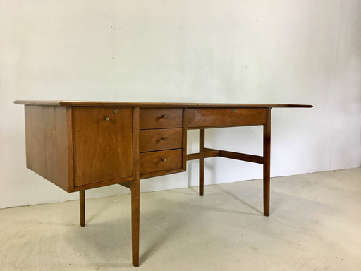 Drexel Parallel Walnut Extension Desk by Barney Flagg