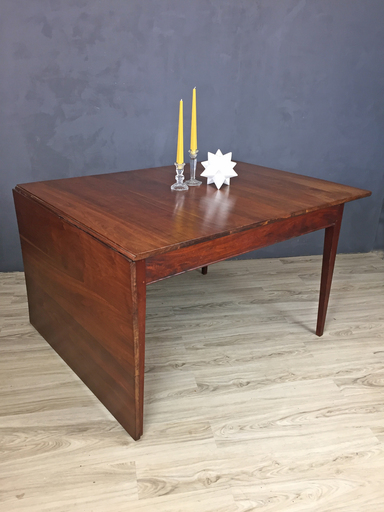 Mid Century Walnut Drop Leaf Dining Table