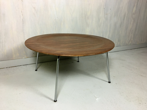 Early Eames Round Plywood Coffee Table