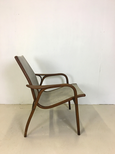 Teak and Leather Lounge Chair by Yngve Ekstrom for Swedese