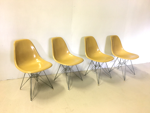 Herman Miller Eiffel Base Fiberglass Chairs