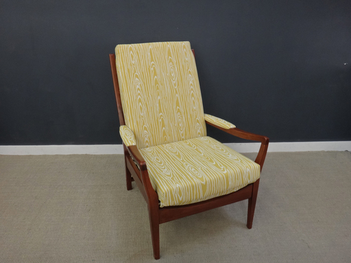 British Mid Century Upholstered Louge Chair