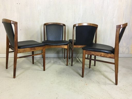 Set of 4 Erich Buch Rosewood Dining Chairs Boston