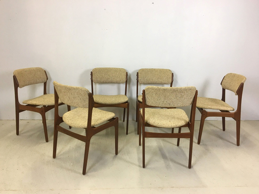Set of Danish Modern Teak Dining Chairs by Erik Buch