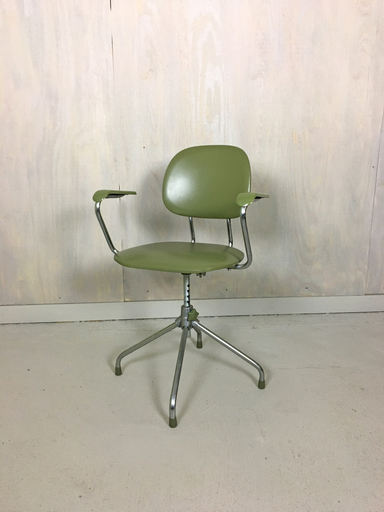 Chrome and Vinyl Office Chair