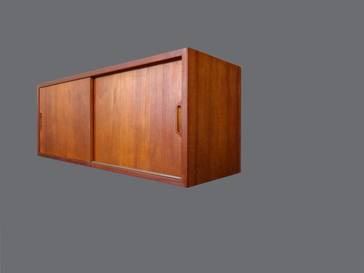 Mid Century Teak Floating Wall Unit