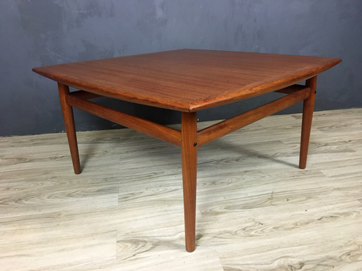 Danish Modern Teak Coffee Table in Style of Greta Jalk