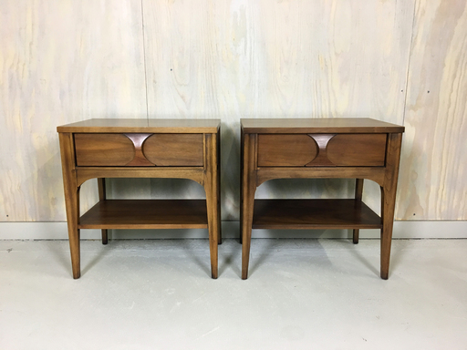 Mid Century Kent Coffey Bedside Tables nightstands