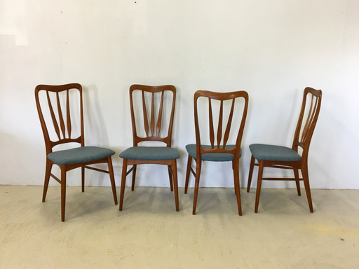 Set of Danish Modern Teak Dining Chairs by Nils Koefoed
