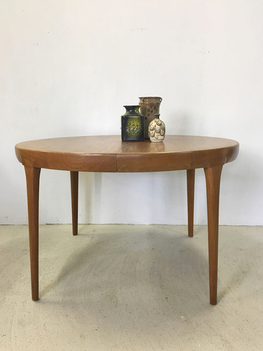 Danish Modern Ib KofodLarsen Extending Teak Dining Table