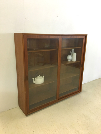Danish Modern Teak China Cabinet by Kai Kristiansen Boston