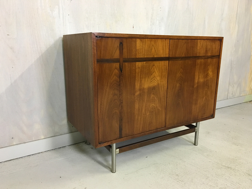 Kroehler Walnut Cabinet with Rosewood Inlay