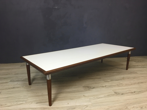 Mid Century Laminate and Wood Coffee Table Boston
