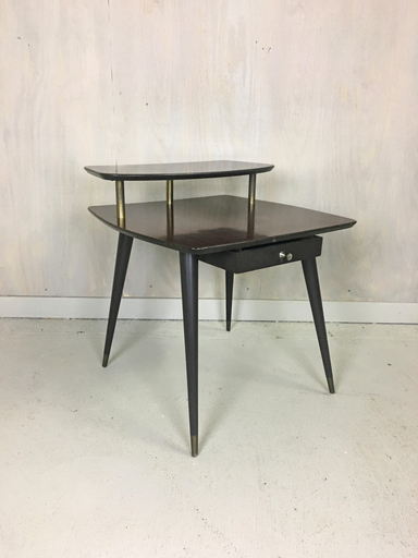 Tiered quotMahoganyquot Laminate Side Table